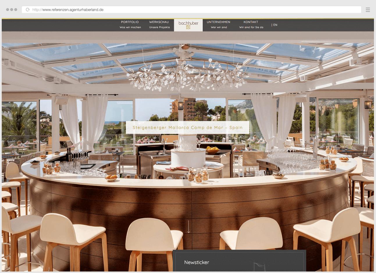 Webdesign Eggenfelden - Haberland - Portfolio Bachhuber - Startseitenslider - Steigenberger Mallorca
