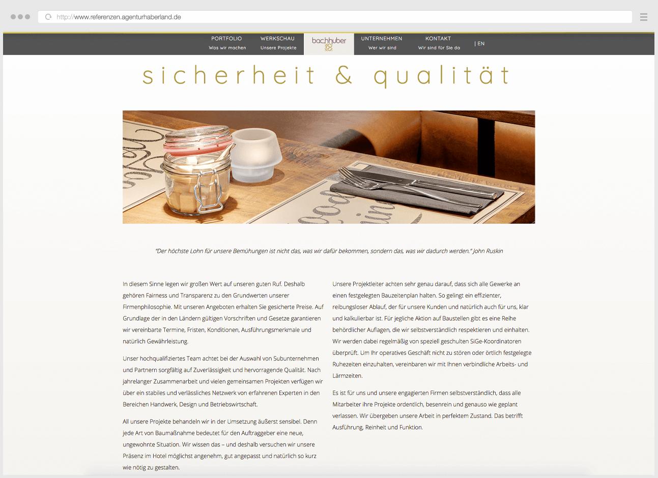 Webdesign Eggenfelden - Haberland - Sicherheit und Qualität