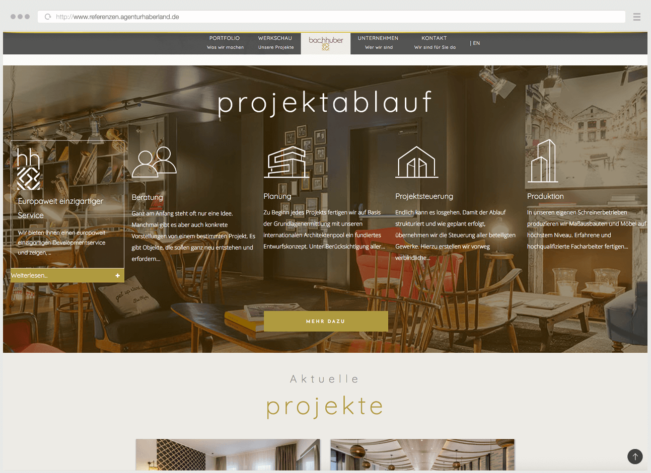 Webdesign Eggenfelden - Haberland - Portfolio Bachhuber - Startseitenslider - Projektablauf